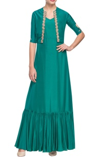 green-embroidered-kurta-with-gathers