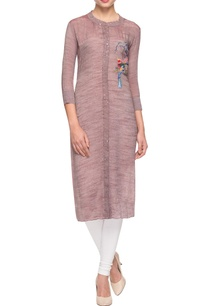 light-brown-embroidered-kurta
