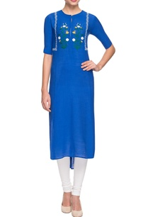 royal-blue-embroidered-kurta