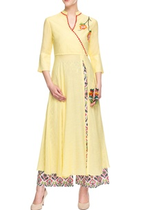 yellow-embroidered-palazzo-set