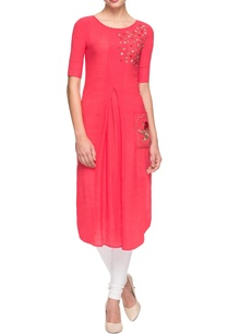 coral-embroidered-kurta