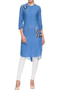 blue-embroidered-kurta