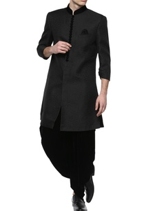 black-brocade-sherwani-with-dhoti-pants