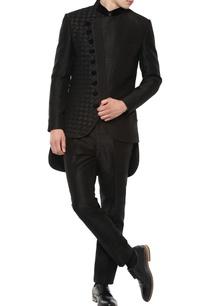 black-angrakha-bandhgala-suit