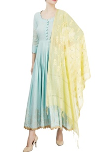 powder-blue-anarkali-with-yellow-dupatta