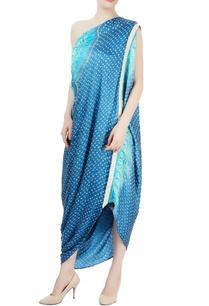 cerulean-turquoise-blue-one-shoulder-dress