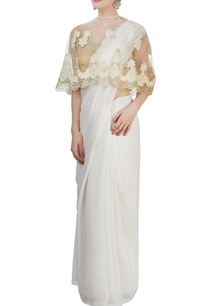 light-gold-blouse-with-white-floral-cape
