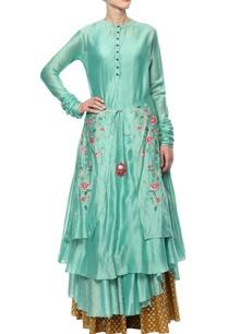 teal-blue-embroidered-kurta-set