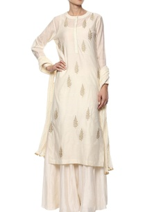 off-white-floral-kurta-set