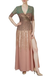 dusky-pink-sequined-gown