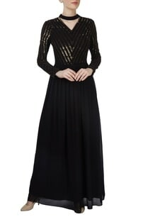 black-sequined-gown