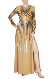 beige-sequined-gown