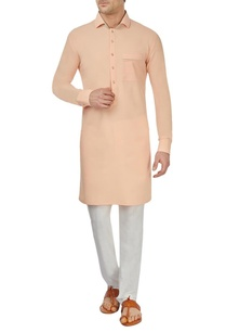 light-peach-moss-crepe-kurta