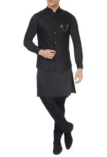black-linen-waistcoat