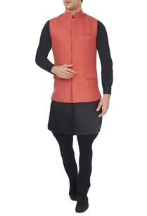 light-red-jute-wool-waistcoat