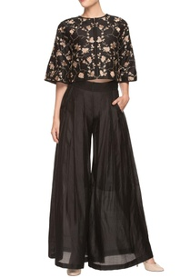 black-palazzo-with-embroidered-crop-top