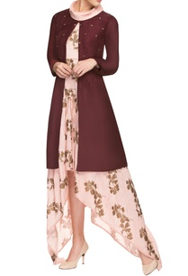 pink-asymmetrical-dress-with-jacket