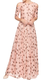 blush-pink-cold-shoulder-dress