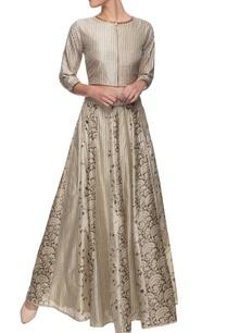 ivory-crop-top-printed-skirt