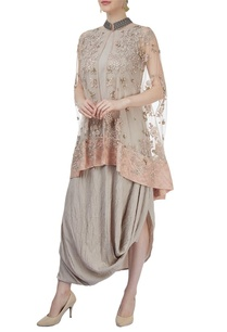 beige-embroidered-cape-dress