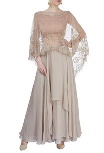 beige-embroidered-cape-with-skirt