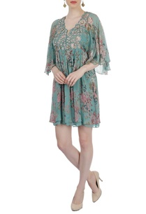 sea-green-multi-colored-tunic-dress