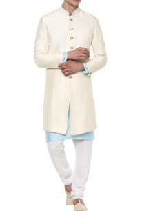off-white-raw-silk-achkan