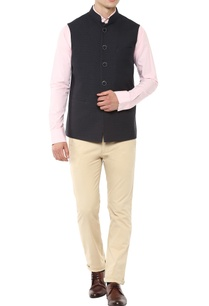 blue-nehru-jacket