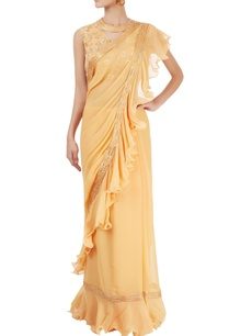 mango-yellow-ruffled-sari-with-blouse