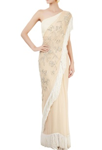 cream-beige-tasseled-sari-with-blouse