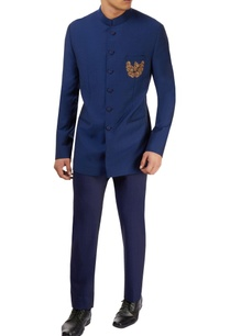blue-textured-bandhgala-with-pants