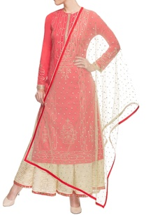coral-red-embroidered-kurti-set