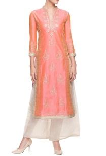 light-pink-embroidered-kurti-set