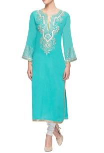 blue-embroidered-kurti