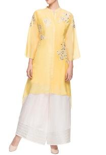 yellow-asymmetric-kurti