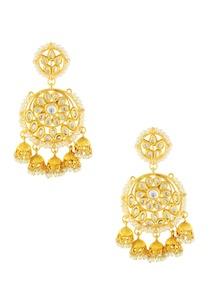 gold-finish-earrings-with-small-jhumkas