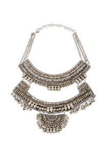 silver-double-layered-necklace