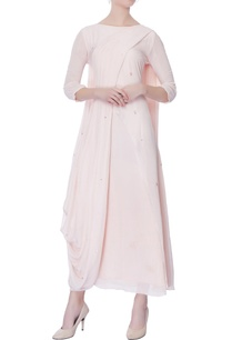 light-pink-chiffon-draped-kurta