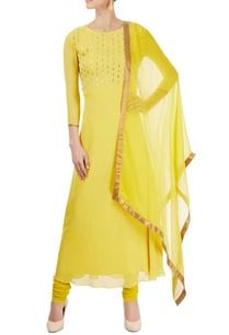 lemon-yellow-embellished-kurta-set