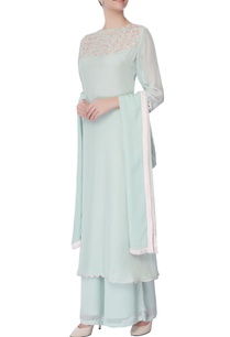 powder-blue-embroidered-kurta-and-palazzo-set