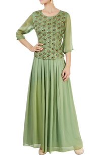 siege-green-embellished-skirt-set