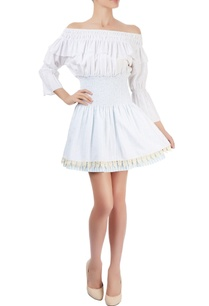 white-off-shoulder-dress-with-smocking