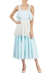 blue-white-tri-layered-dress