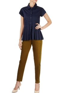 navy-blue-shirt-with-box-pleats