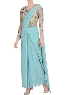 sky-blue-embroidered-sari-gown