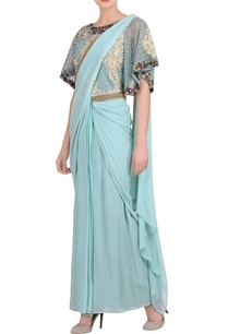 powder-blue-sari-gown