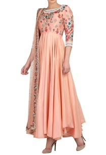 peach-kurta-set