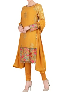 mustard-yellow-kurta-set