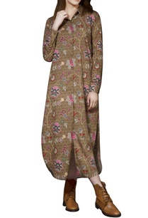 brown-chintz-shirt-dress