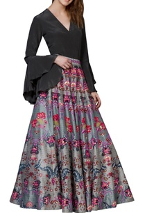grey-chintz-embroidered-skirt